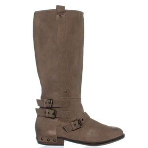 DOLCE VITA Taupe Tan Suede Leather Riding Boots